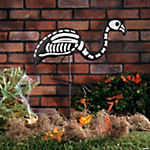Skeleton Flamingo Yard Stake