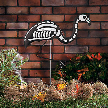 Skeleton flamingo yard stake oriental trading discontinued - Gardeners supply company coupon code ...