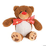 Cuddling Plush Bear With Personalized Ribbon