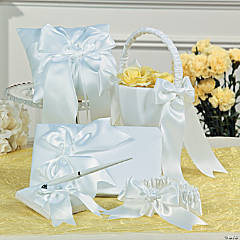 White Bow Wedding Set