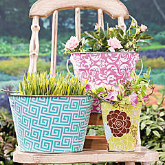 Decorative Galvanized Buckets idea