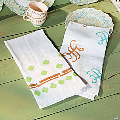 Stenciled Tea Towels Idea