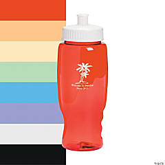 Transparent Luau Personalized Water Bottles - 27 oz.