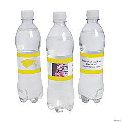 Custom Photo Class Of Water Bottle Labels - Yellow