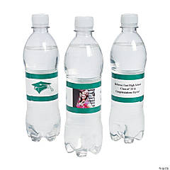 Custom Photo Class Of Water Bottle Labels - Green