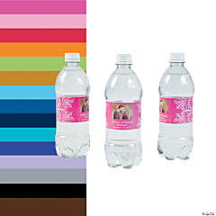 Custom Photo Wedding Water Bottle Labels