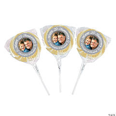 25th Anniversary Wedding Custom Photo Swirl Pops