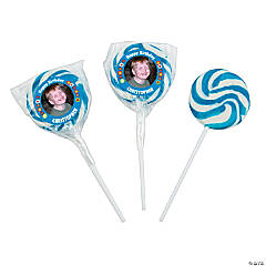 Birthday Boy Custom Photo Swirl Pops