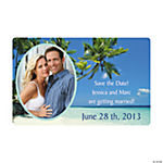 Customized Tropical Save the Date Photo Magnet