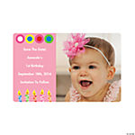 Personalized Girl Birthday Photo Magnet