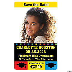 """Class Of"" Graduation Announcement Custom Photo Magnets"
