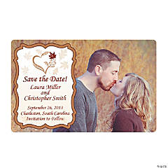 Customized Fall Wedding Save the Date Photo Magnet