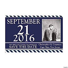 "Custom Photo Nautical Wedding ""Save The Date"" Magnets"