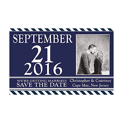 "Custom Photo Nautical Wedding ""Save the Date"" Magnets - Oriental ..."