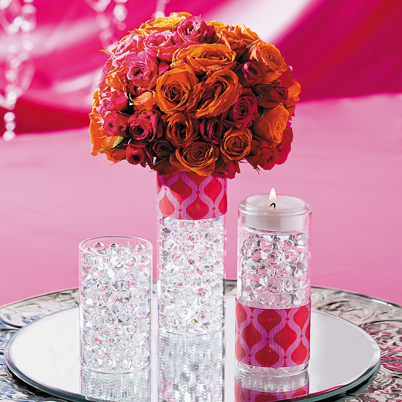 Elegant flower centerpiece idea oriental trading