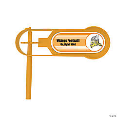 Orange Team Spirit Custom Photo Giant Noisemakers