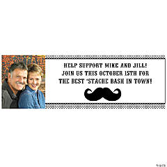Small Mustache Custom Photo Banner