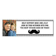 Mustache Medium Custom Photo Banner