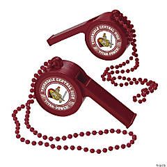 Burgundy Team Spirit Custom Photo Giant Whistles