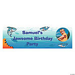 Small Jawsome Shark Party Custom Photo Banner