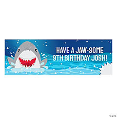 Medium Jawsome Shark Party Custom Photo Banner