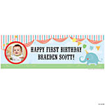 Medium 1st Birthday Circus Custom Photo Banner