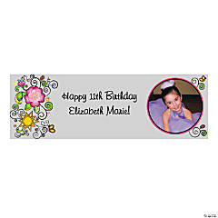 Small Glitzy Chicks™ Custom Photo Banner