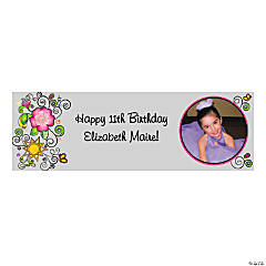 Medium Glitzy Chicks™ Custom Photo Banner