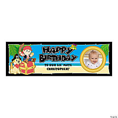 Medium 1st Birthday First Mate Custom Photo Banner