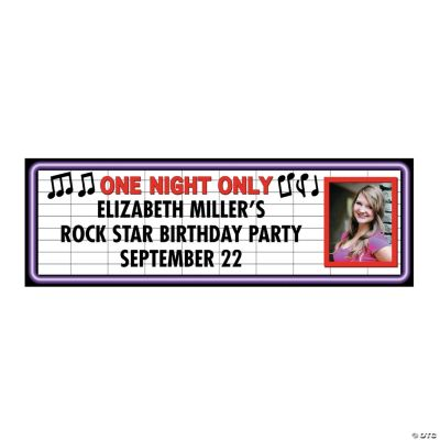 Rock Star Small Custom Photo Banner