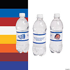 Team Spirit Custom Photo Water Bottle Labels