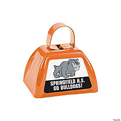 Orange Team Spirit Custom Photo Cowbells