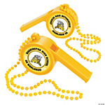 Yellow Team Spirit Custom Photo Giant Whistles