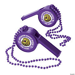 Purple Team Spirit Custom Photo Giant Whistles
