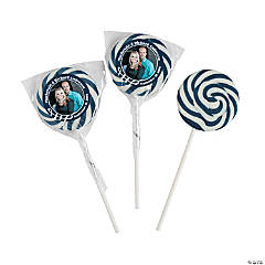 Navy Blue Custom Photo Swirl Pops