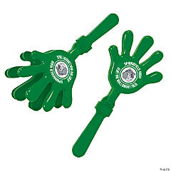 Green Team Spirit Custom Photo Hand Clappers