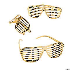 2014 Gold Metallic Shutter Shading Glasses