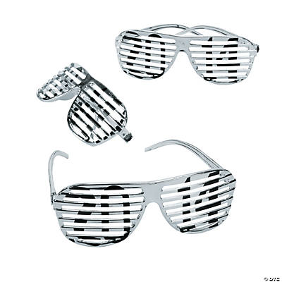 2014 Silver Metallic Shutter Shading Glasses
