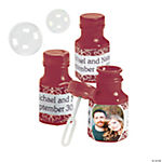 Burgundy Custom Photo Hexagon Bubble Bottles