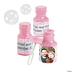 Pink Custom Photo Bubble Bottles