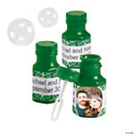 Green Custom Photo Hexagon Bubble Bottles