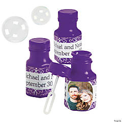 Purple Custom Photo Bubble Bottles