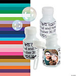 White Custom Photo Hexagon Bubble Bottles