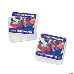 Purple Team Spirit Custom Photo Square Containers