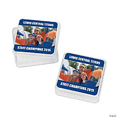 Blue Team Spirit Custom Photo Square Containers