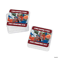 Burgundy Team Spirit Custom Photo Square Containers