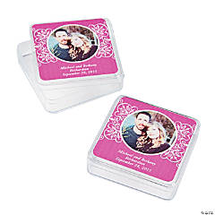 Hot Pink Custom Photo Square Containers