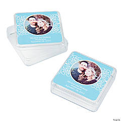 Light Blue Custom Photo Square Containers