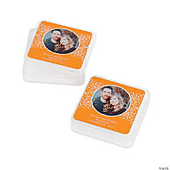 Orange Custom Photo Square Containers