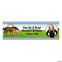 Mare & Foal Custom Photo Banner